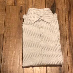 Calvin Klein. Slim fit.  button-down dress shirt.